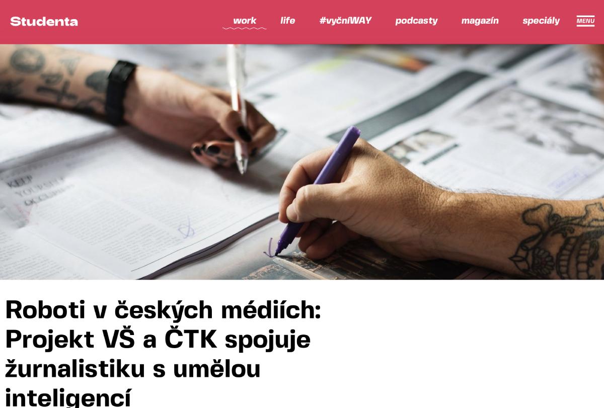 Napsali o nás: Studenta.cz